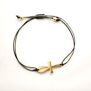 Jewelry - Gold Ankh Bracelet